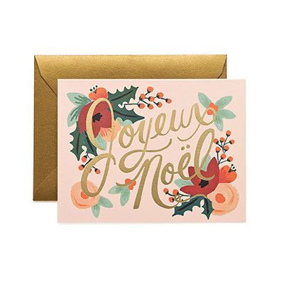 Joyeux Noel Christmas Card Set